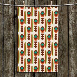 Unique Hanging Tea Towels | Nika Martinez - Mid Century Modern Orange | Patterns