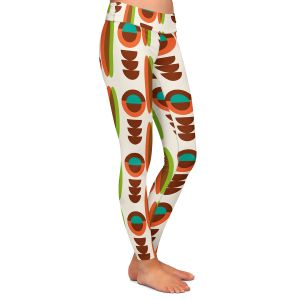 Casual Comfortable Leggings   Nika Martinez - Mid Century Modern Orange