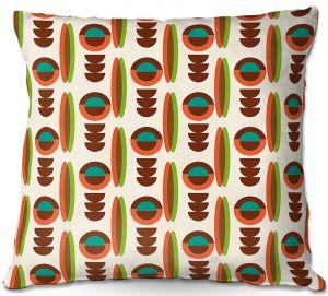 Decorative Outdoor Patio Pillow Cushion | Nika Martinez - Mid Century Modern Orange