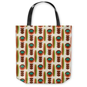 Unique Shoulder Bag Tote Bags | Nika Martinez - Mid Century Modern Orange