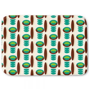 Decorative Bathroom Mats | Nika Martinez - Mid Century Modern Turquoise