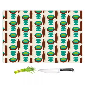 Artistic Kitchen Bar Cutting Boards | Nika Martinez - Mid Century Modern Turquoise