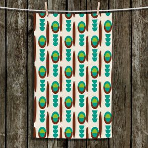 Unique Bathroom Towels | Nika Martinez - Mid Century Modern Turquoise
