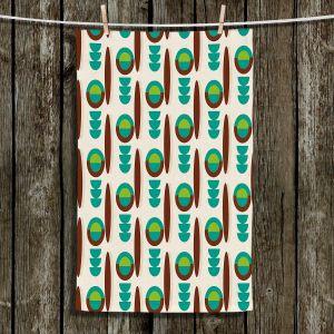 Unique Bathroom Towels | Nika Martinez - Mid Century Modern Turquoise