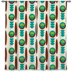 Decorative Window Treatments | Nika Martinez - Mid Century Modern Turquoise