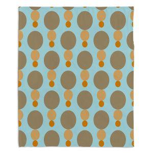 Decorative Fleece Throw Blankets | Nika Martinez - Mid Century Mushroom