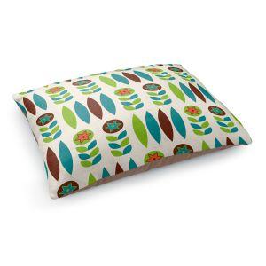 Decorative Dog Pet Beds | Nika Martinez - Mid Century Spring Floral