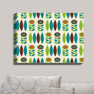 Decorative Canvas Wall Art | Nika Martinez - Mid Century Spring Floral | Patterns