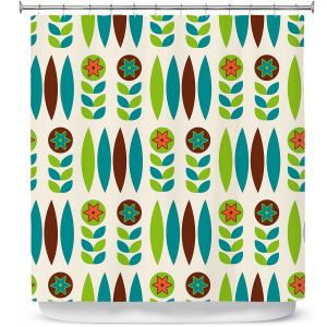 Premium Shower Curtains | Nika Martinez - Mid Century Spring Floral
