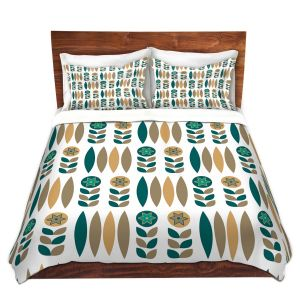 Artistic Duvet Covers and Shams Bedding | Nika Martinez - Mid Century Winter Floral