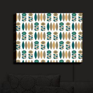 Nightlight Sconce Canvas Light | Nika Martinez - Mid Century Winter Floral | Patterns