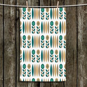 Unique Hanging Tea Towels | Nika Martinez - Mid Century Winter Floral | Patterns