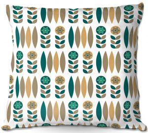 Throw Pillows Decorative Artistic | Nika Martinez - Mid Century Winter Floral