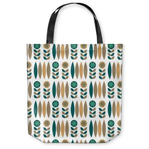 Unique Shoulder Bag Tote Bags | Nika Martinez - Mid Century Winter Floral