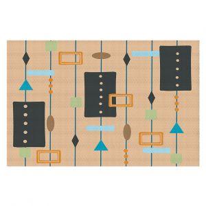 Decorative Floor Covering Mats | Nika Martinez - Mid Century Cubes 2 | Square Pattern