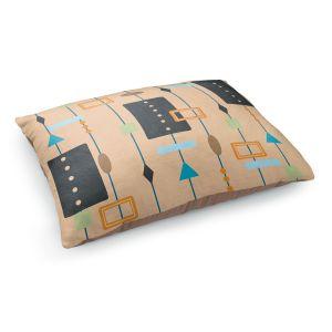 Decorative Dog Pet Beds   Nika Martinez - Mid Century Cubes 2   Square Pattern