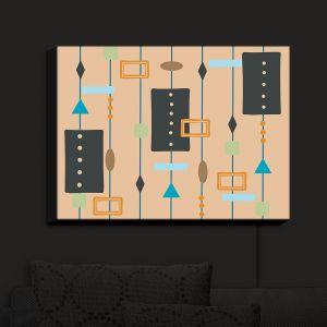 Nightlight Sconce Canvas Light | Nika Martinez - Mid Century Cubes 2 | Square Pattern