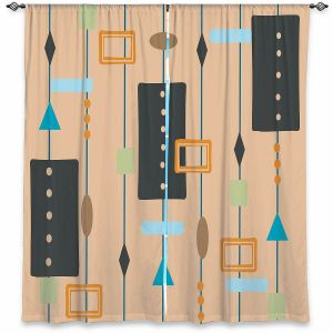 Decorative Window Treatments | Nika Martinez - Mid Century Cubes 2 | Square Pattern