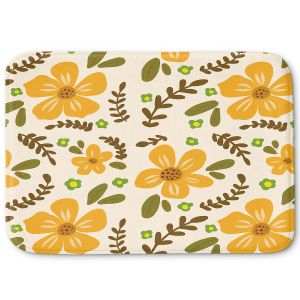 Decorative Bathroom Mats | Nika Martinez - Mid Century Florals 2 | Floral Flowers Patterns