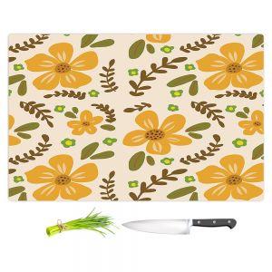 Artistic Kitchen Bar Cutting Boards | Nika Martinez - Mid Century Florals 2 | Floral Flowers Patterns