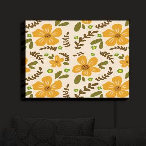 Nightlight Sconce Canvas Light | Nika Martinez - Mid Century Florals 2 | Floral Flowers Patterns