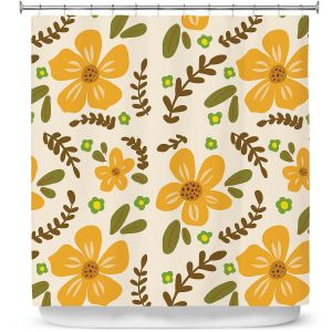 Premium Shower Curtains | Nika Martinez - Mid Century Florals 2