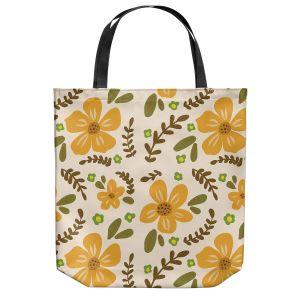 Unique Shoulder Bag Tote Bags | Nika Martinez - Mid Century Florals 2 | Floral Flowers Patterns