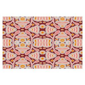 Decorative Floor Covering Mats | Nika Martinez - Mid Century Shapes | Geometric Pattern