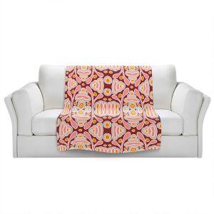 Artistic Sherpa Pile Blankets | Nika Martinez - Mid Century Shapes | Geometric Pattern