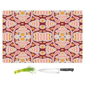 Artistic Kitchen Bar Cutting Boards   Nika Martinez - Mid Century Shapes   Geometric Pattern
