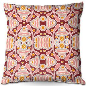 Decorative Outdoor Patio Pillow Cushion   Nika Martinez - Mid Century Shapes   Geometric Pattern
