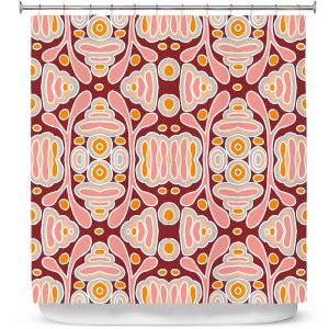 Premium Shower Curtains   Nika Martinez - Mid Century Shapes   Geometric Pattern