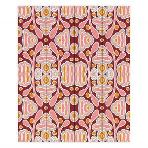 Decorative Wood Plank Wall Art | Nika Martinez - Mid Century Shapes | Geometric Pattern
