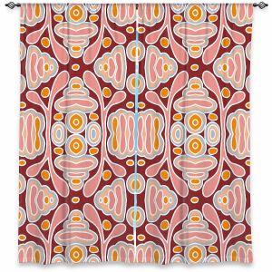 Decorative Window Treatments | Nika Martinez - Mid Century Shapes | Geometric Pattern