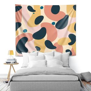 Artistic Wall Tapestry | Nika Martinez - Mid Century Voyage 2 | Tear Drop Patterns