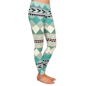 Casual Comfortable Leggings | Nika Martinez Mint Native Forest