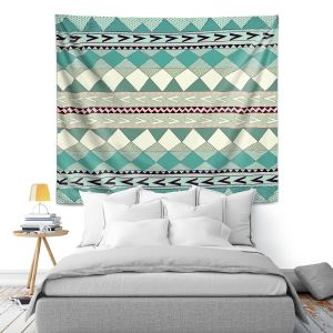 Artistic Wall Tapestry | Nika Martinez Mint Native Forest