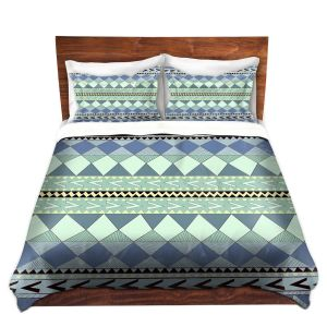 Artistic Duvet Covers and Shams Bedding | Nika Martinez - Purple Native Forest