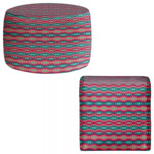 Round and Square Ottoman Foot Stools | Nika Martinez - Sol