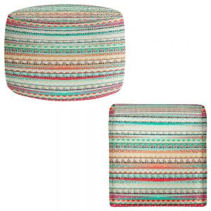 Round and Square Ottoman Foot Stools | Nika Martinez - Summer Boho