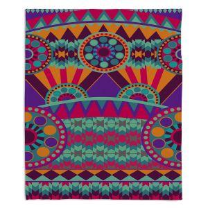 Decorative Fleece Throw Blankets | Nika Martinez - Tribal Ethnic