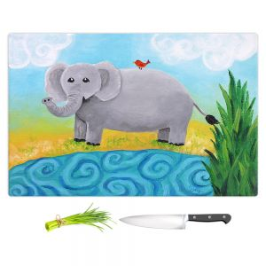 Artistic Kitchen Bar Cutting Boards | nJoy Art - Elephant