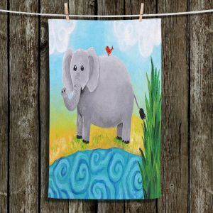 Unique Hanging Tea Towels | nJoy Art - Elephant | Animal Child Like