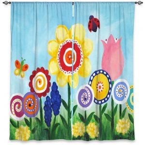 Decorative Window Treatments | nJoy Art - Flower Garden