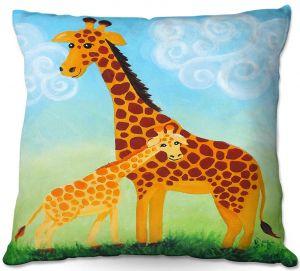 Decorative Outdoor Patio Pillow Cushion | nJoy Art - Giraffes