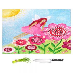 Artistic Kitchen Bar Cutting Boards   nJoy Art - Pink Flower Fairy