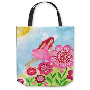 Unique Shoulder Bag Tote Bags | nJoy Art - Pink Flower Fairy