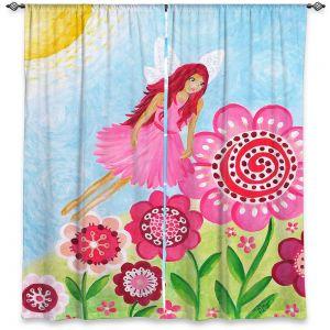 Decorative Window Treatments   nJoy Art - Pink Flower Fairy