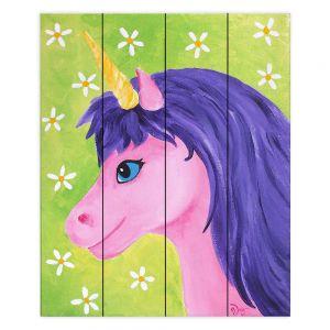 Decorative Wood Plank Wall Art | nJoy Art - Pink Unicorn