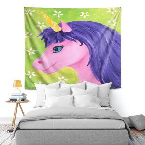 Artistic Wall Tapestry | nJoy Art - Pink Unicorn